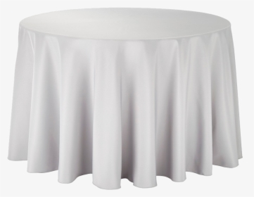 Round Table With Cloth Hd Png, White Tablecloth Round 1080p