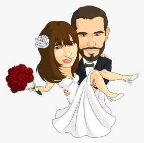 Caricature For A Wedding Couple Cartoon Caricature Wedding Hd Png Download Transparent Png Image Pngitem