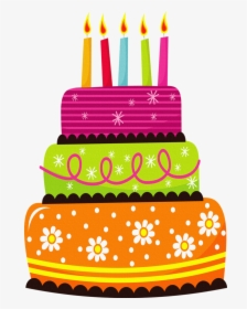february clipart birthday cake - cute birthday cake clipart, hd png  download , transparent png image - pngitem  pngitem