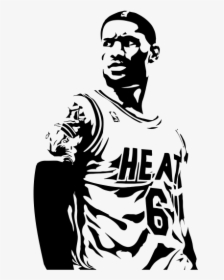 28 Collection Of Lebron James Clipart Black And White Lebron James Black And White Png Transparent Png Transparent Png Image Pngitem