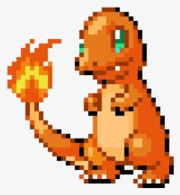 Pixel Art Pokemon Salameche Hd Png Download Transparent