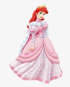 Little Ariel Belle Transparent Disney The Dress Clipart Disney Princess Ariel Pink Dress Hd Png Download Transparent Png Image Pngitem