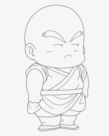 Krillin Line Art Drawing Dragon Ball Dragon Ball Z Krillin Drawing Hd Png Download Transparent Png Image Pngitem