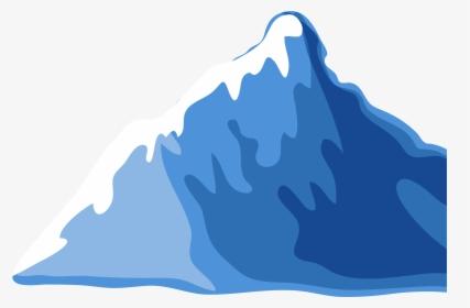 Flat design ice mountain icon vector illustration.