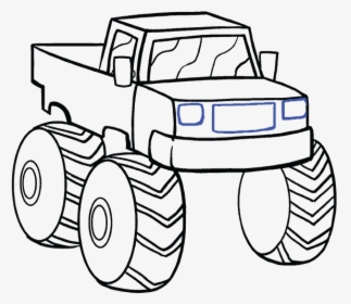 How To Draw Monster Truck Easy Monster Truck Drawing Hd Png Download Transparent Png Image Pngitem