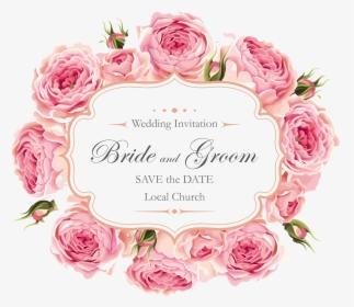Rose Wedding Creative Roses Design Invitation Clipart Heart Floral Wedding Invitation Background Hd Png Download Transparent Png Image Pngitem