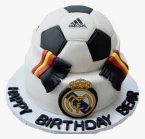 Superb Real Madrid Fc Soccer Red Velvet Cake With An Adidas Real Madrid Funny Birthday Cards Online Elaedamsfinfo