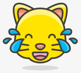 098 Cat Face With Tears Of Joy Easy Cat Emoji Drawing Hd Png
