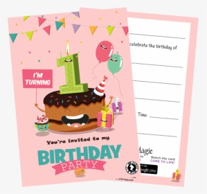 3rd Birthday Invitation Card Hd Png Download Transparent