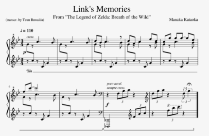 Breath Of The Wild Link Memories Piano Hd Png Download