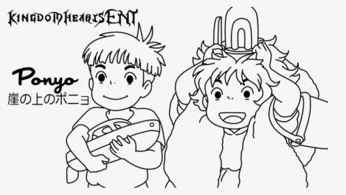 Human Top View Lineart Ghibli Coloring Page Ponyo Hd Png Download Transparent Png Image Pngitem