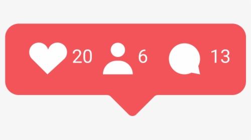 Instagram Heart Notification Png, Transparent Png , Transparent ...