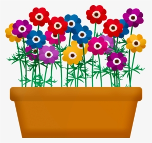 Pot Plant Clipart Bunga Clipart Flower Pot Png - Flower In Pot Png,  Transparent Png , Transparent Png Image - PNGitem