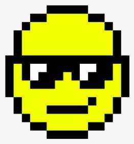 Thug Transparent Smiley Cool Emoji Pixel Art Hd Png