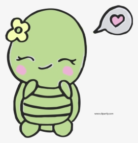 Easy Sweet And Cute Turtle Clipart Drawing Transparent Cartoon