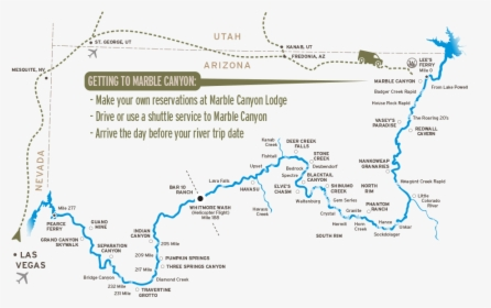 Map Of Driving To Marble Canyon Grand Canyon Mile 232 Hd