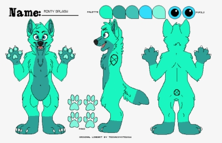 Get Reference Sheet Free To Use Furry Wolf Base Gif