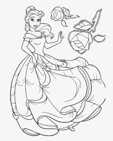 Disney Princess Belle Coloring Pages | Disney prinzessinnen ... | 280x224
