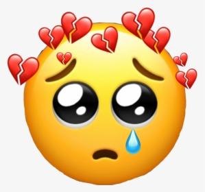 Sad Sadlife Sad Heart Broken Brokenheart Confused Emoji Hd Png Download Transparent Png Image Pngitem