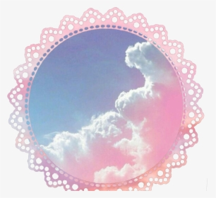 Border Edge Pink Aesthetic Pastel Clouds Sky Hd Png