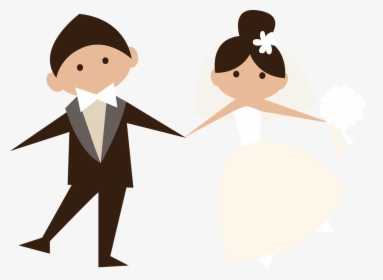Drawn Wedding Married Couple Hd Png Download Transparent