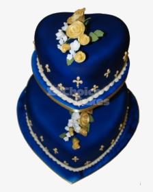 Royal Blue Two Tier Wedding Cakes Banh Hd Png Download Transparent Png Image Pngitem