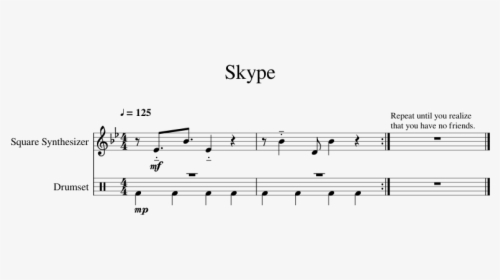 Minecraft Piano Sheet Music Roblox Skype Call Piano Sheet Music Hd Png Download Transparent Png Image Pngitem