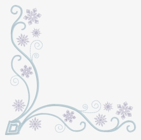 Round with blue snowflake graphic, Snowflake Christmas, Snowflake border  transparent background PNG clipart | HiClipart