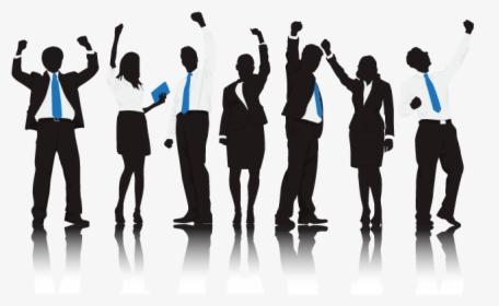 Business Team Success In Blue Transparent Background Success Png Png Download Transparent Png Image Pngitem