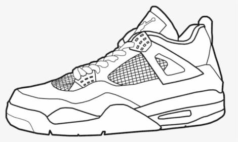 Jordan Air Jordans Coloring Pages Unique Collection Jordan 4 Easy Drawing Hd Png Download Transparent Png Image Pngitem