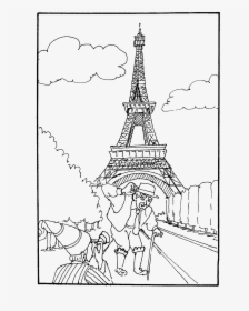 Eiffel Tower Coloring Page Drawing The Eiffel Tower Foto von ... | 280x224