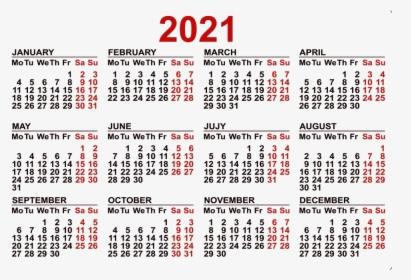 Calendar 2021 Png Pic   Calendario 2020 Numeros Grandes