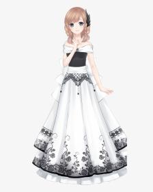 Dress Anime Girl Drawing Hd Png Download Transparent Png Image Pngitem