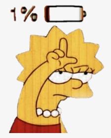 Simpsons Sad Broken Brokenheart Lisa Simpson Loser Png Transparent Png Transparent Png Image Pngitem
