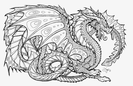 Realistic Dragon Coloring Pages For Adults Coloring - Free ...