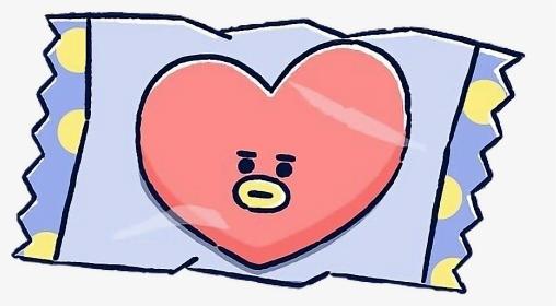 519 5198443 sticker tumblr heart tata bt21 bts v btstata