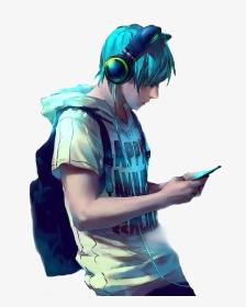 Cool Gamer Anime Boy, HD Png Download , Transparent Png ...