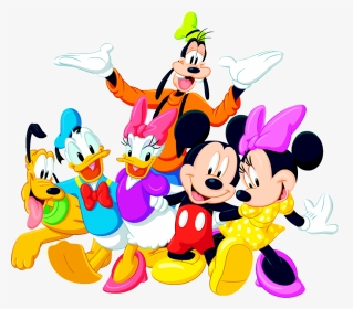 Free Clipart Disney Characters Banner Transparent Free Mickey Mouse And Friends Transparent Hd Png Download Transparent Png Image Pngitem