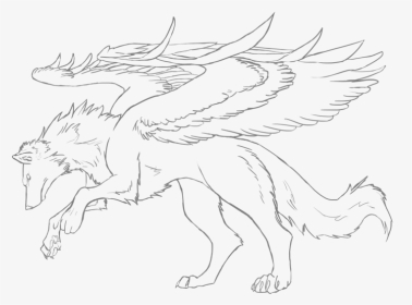 Anime Winged Wolves Coloring Pages Coloring Book Hd Png