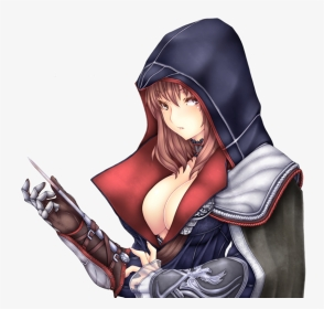 Assassin Drawing Woman Female Assassins Creed Anime Hd Png