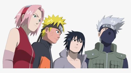 Naruto And Sakura And Sasuke And Kakashi Team Kakashi Hd Png Download Transparent Png Image Pngitem