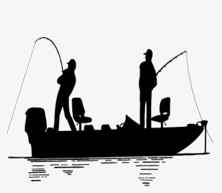 Download Fisherman In Clip Art Fishing Man In Boat Silhouette Hd Png Download Transparent Png Image Pngitem