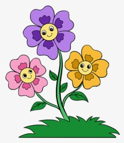 How To Draw Cartoon Flowers Easy Step By Step Drawing Easy Cartoon Drawing Flowers Hd Png Download Transparent Png Image Pngitem