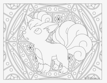 Growlithe Drawing Vulpix Ninetales Coloring Page Hd Png Download Transparent Png Image Pngitem