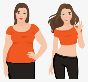 Before After Weight Loss Art Hd Png Download Transparent Png Image Pngitem