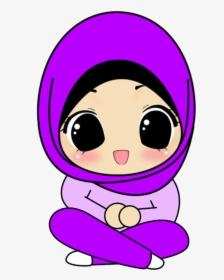 Kumpulan Animasi Muslimah Berpurdah Muslimah Ungu Hd Png Download Transparent Png Image Pngitem
