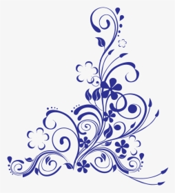 Royal Blue Border Wedding Background Hd Png Download