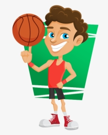 Playing Basketball Clipart, HD Png Download - kindpng