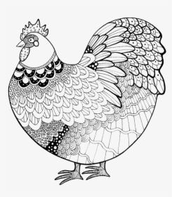 Line Chicken Coloring Book, HD Png Download , Transparent ...