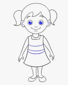How To Draw Cartoon Girl Easy Little Girl Drawing Cartoon Hd